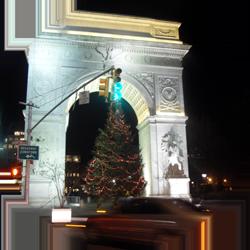 nyc new york city arch christmas xmas travel usa