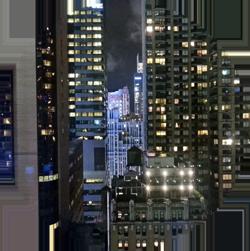 NYC new york city skyscrapers night view usa travel