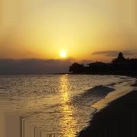 sunset beach psakoudia greece europe travel