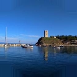 nea fokia kassandra halkidiki greece europe tower byzantine travel