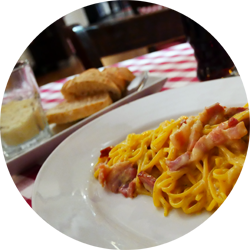 vaveloce restaurant carbonara bread cheese bacon dining food berlin germany europe budget blog travel