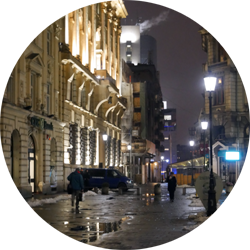 old town night street lighting bucharest romania europe travel photography photogenic photo pictures sightseeing