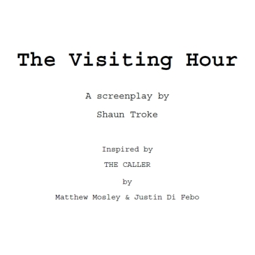 the visiting hour feature film screenplay story shaun troke matt mosley caller justin di febo
